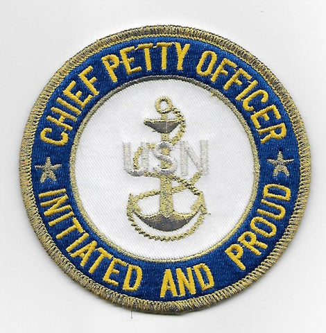 United States Navy Chief Petty Officer Patch INITIATED AND PROUD