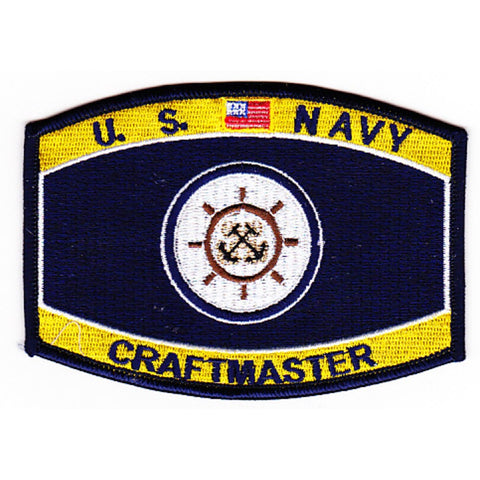 Craft Master Navy Rating Patch