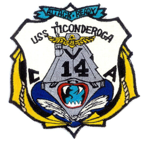 CVA-14 USS Ticonderoga Aircraft Carrier Patch - Attack Ready