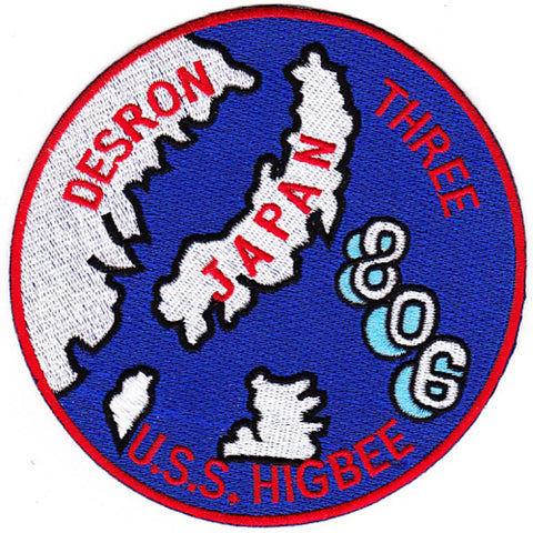 DD-806 USS Higbee Destroyer Patch DESRON 3