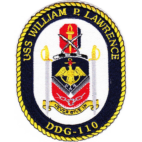 DDG-110 USS William P. Lawrence Guided Missile Destroyer Ship Crest Patch