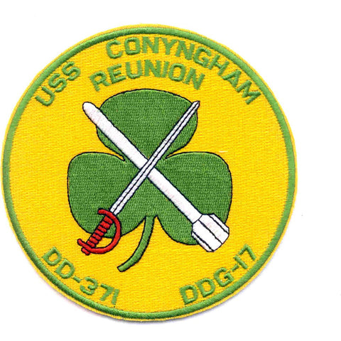 DDG-17 USS Conyingham Reunion DD-371 Destroyer Ship Patch