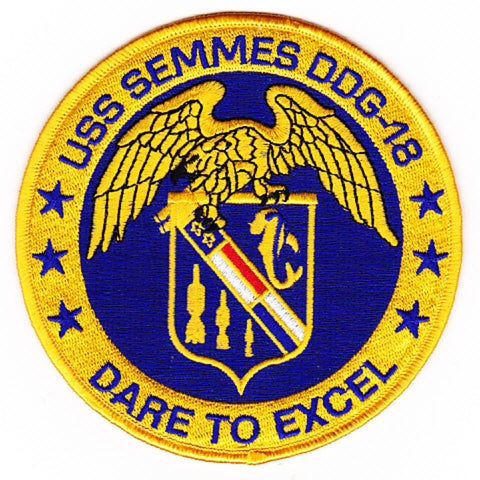 DDG-18 USS Semmes Guided Missile Destroyer Ship Patch