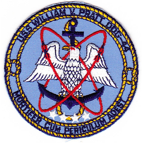 DDG-44 USS William V Pratt Guided Missile Destroyer Ship Patch
