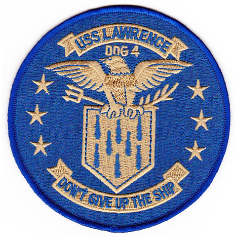 DDG-4 USS Lawrence Guided Missile Destroyer Ship Patch - Version B
