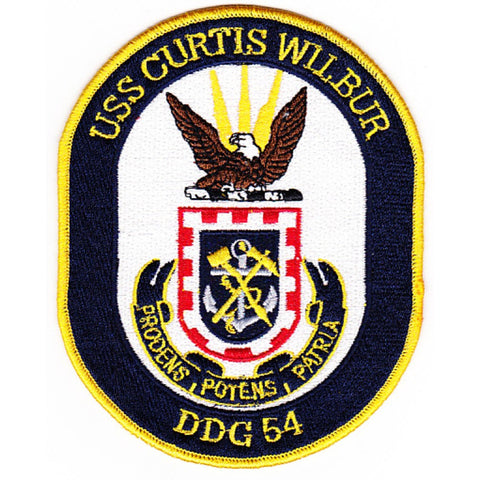 DDG-54 USS Curtis Wilbur Guided Missile Destroyer Ship Crest Patch