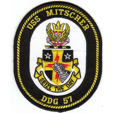 DDG-57 USS Mitscher Guided Missile Destroyer Ship Crest Patch