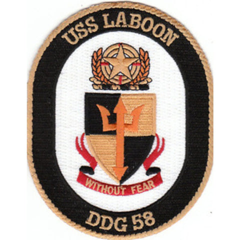 DDG-58 USS Laboon Guided Missile Destroyer Ship Crest Patch