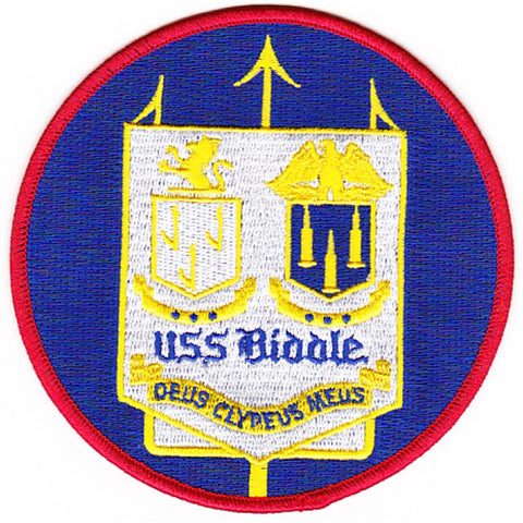 DDG-5 USS Biddle Guided Missile Destroyer Ship Patch