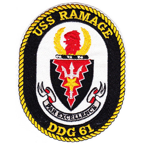 DDG-61 USS Ramage Guided Missile Destroyer Ship Crest Patch