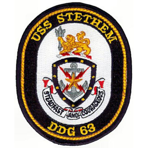 DDG-63 USS Stethem Guided Missile Destroyer Ship Crest Patch