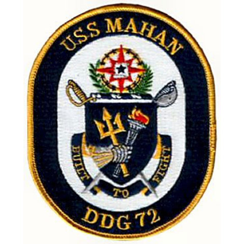 DDG-72 USS Mahan Guided Missile Destroyer Ship Crest Patch