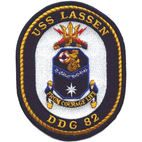 DDG-82 USS Lassen Guided Missile Destroyer Ship Crest Patch