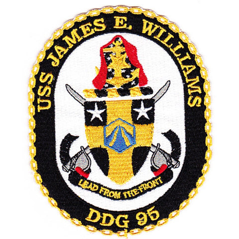 DDG-95 USS James E. Williams Guided Missile Destroyer Ship Crest Patch