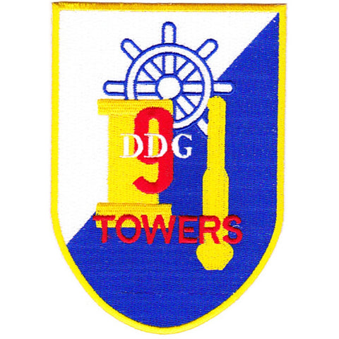 DDG-9 USS Towers Guided Missile Destroyer Ship Patch