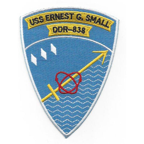 DDR-838 USS Ernest G. Small Radar Picket Destroyer Ship Patch - Version A