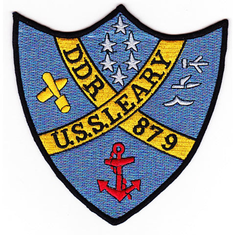 DDR-879 USS Leary Radar Picket Destroyer Ship Patch