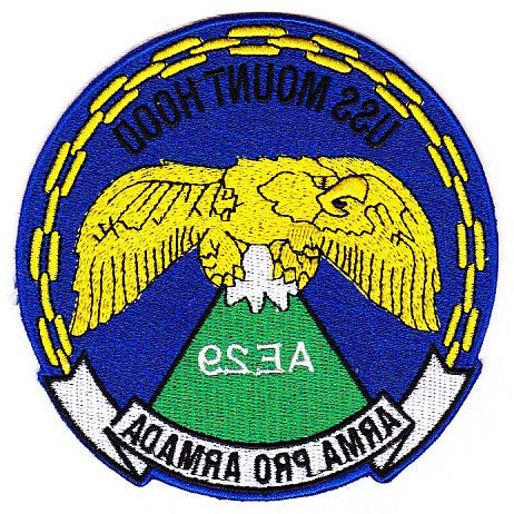 AE-29 USS Mount Hood Auxiliary Ammunition Ship Patch