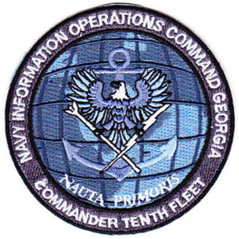 Commander Tenth Fleet Information Operations Command Georgia Military Patch NAUTA PRIMORIS