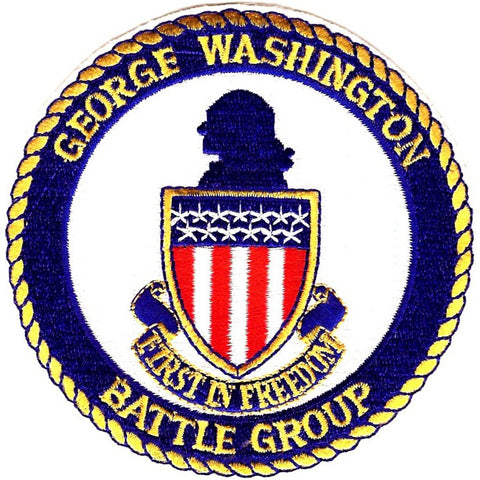 CVN-73 USS George Washington Aircraft Carrier Patch BATTLE GROUP First in Freedom