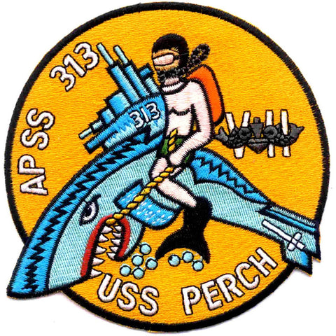 APSS-313 USS Perch Transport Submarine Patch - Version B