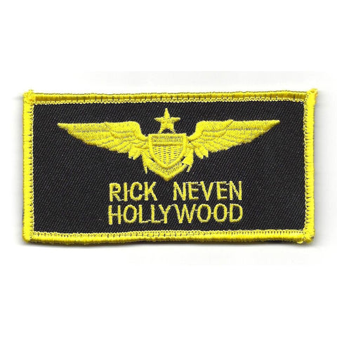Aviation Pilot Wings HOLLYWOOD Velcro Patch