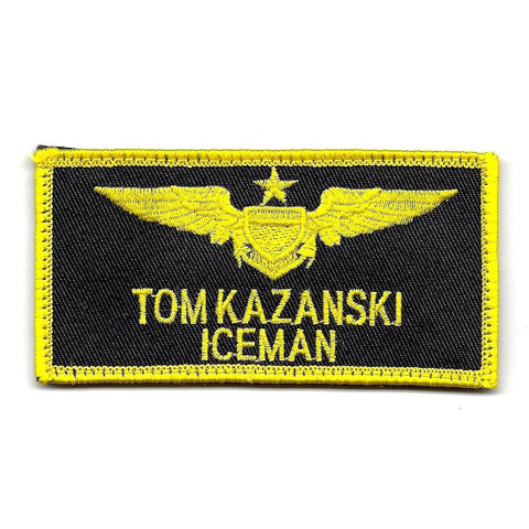 Aviation Pilot Wings ICEMAN Velcro Patch