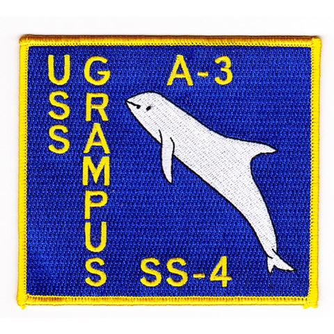 A-3 SS-4 USS GRAMPUS SUBMARINE PATCH