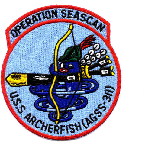 AGSS-311 ARCHERFISH RESEARCH SUBMARINE PATCH OPERATION SEASCAN