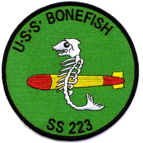 SS-223 USS BONEFISH SUBMARINE PATCH