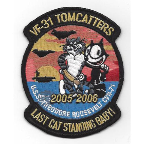 VF-31 CVN-71 USS Theodore Roosevelt - Tomcatters Fighter Squadron Patch