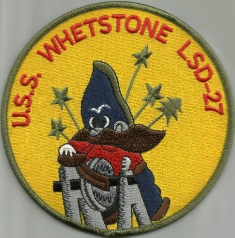 LSD-27 USS Whetstone Dock Landing Ship Patch