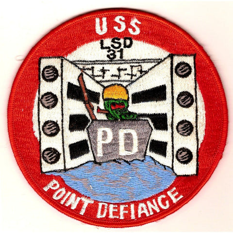 LSD-31 USS Point Defiance Dock Landing Ship Patch