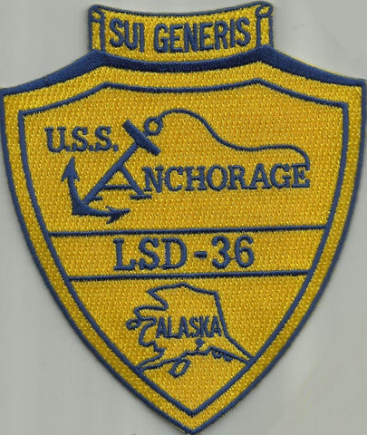 LSD-36 USS Anchorage Dock Landing Ship Patch