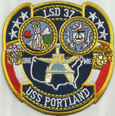 LSD-37 USS Portland Dock Landing Ship Patch