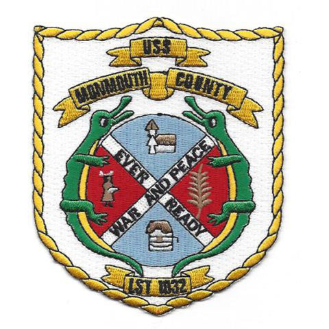 LST-1032 USS Monmouth County Tank Landing Ship Patch