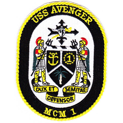 MCM-1 USS Avenger Mine Countermeasures Ship Patch
