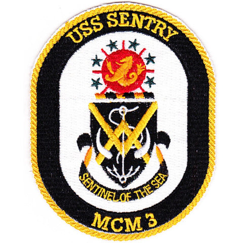 MCM-3 USS Sentry Mine Countermeasures Ship Patch