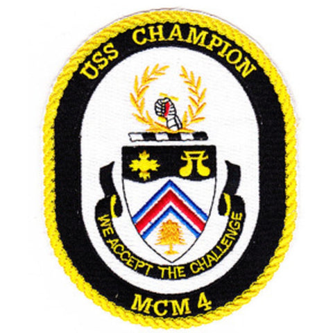 MCM-4 USS Champion Mine Countermeasures Ship Patch