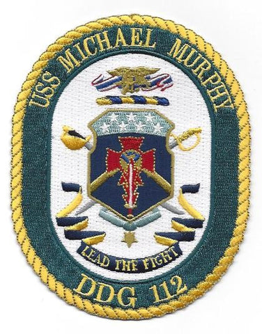 DDG-112 USS Michael Murphy Guided Missile Destroyer Ship Crest Patch