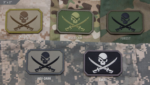 Pirate Skull Flag PVC Patch