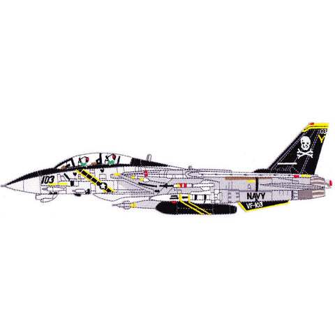 F-14B Tomcat VF-103 Patch Detailed Sideview