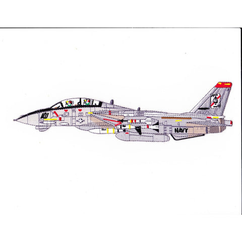 F-14B Tomcat VF-41 Patch Black Aces Detailed Sideview