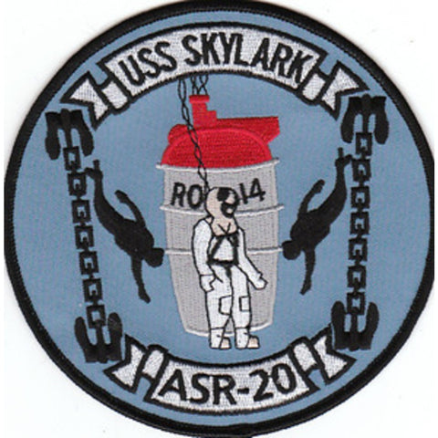 ASR-20 USS Skylark Submarine Rescue Patch