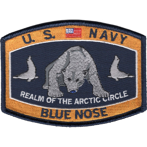 BLUE NOSE Realm of the Arctic Circle Navy Rating Patch
