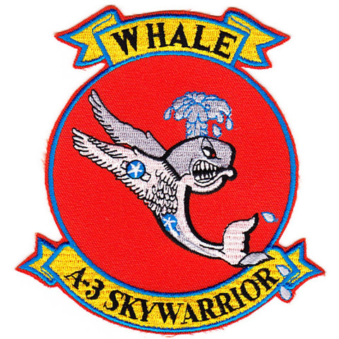 Douglas A-3 Skywarrior Patch Whale - Red