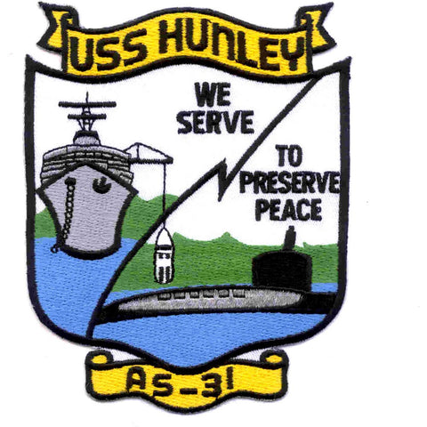 AS-31 USS Hunley Patch