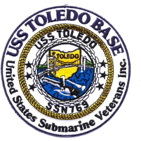 US Submarine Veterans, Inc. USS Toledo Base SSN 769 Toledo, OH Patch