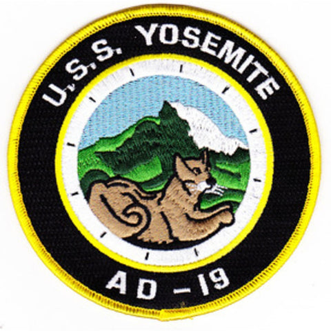 AD-19 USS Yosemite Destroyer Tender Patch - A Version
