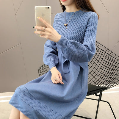 Ladies Elegant Sweater Dress - Kim's Fashions